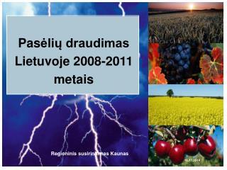 Pas ėlių draudimas Lietuvoje 2008-2011 metais
