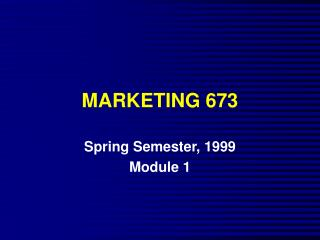 MARKETING 673