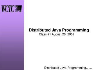Distributed Java Programming