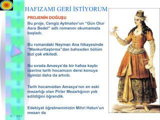 HAFIZAMI GERİ İSTİYORUM