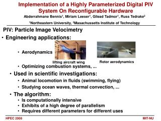 PIV: Particle Image Velocimetry  Engineering applications:  Aerodynamics