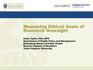 Measuring Ethical Goals of Research Oversight