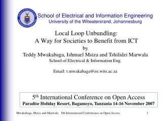 Local Loop Unbundling:  A Way for Societies to Benefit from ICT