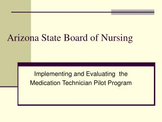 Arizona State Board of Nursing