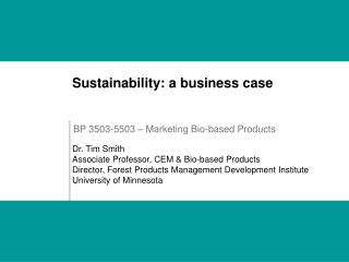 BP 3503-5503 – Marketing Bio-based Products