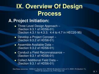 IX. Overview Of Design Process