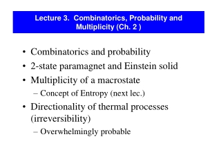 Lecture 10  Permutations and Combinations