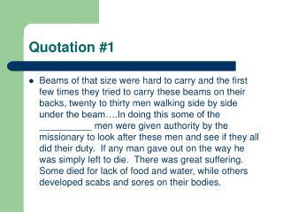 Quotation #1