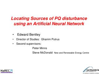 Locating Sources of PQ disturbance using an Artificial Neural Network