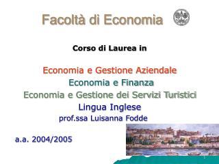 Facoltà di Economia