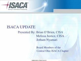 ISACA UPDATE
