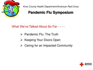 Knox County Health Department/American Red Cross Pandemic Flu Symposium