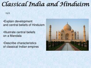 Classical India and Hinduism