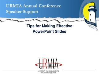 URMIA Annual Conference  Speaker Support