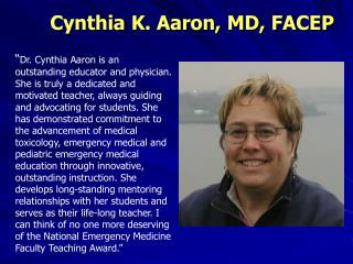 Cynthia K. Aaron, MD, FACEP
