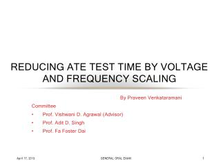 Reducing ATE Test Time BY Voltage and Frequency SCALING