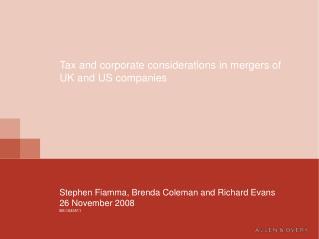 Stephen Fiamma, Brenda Coleman and Richard Evans 26 November 2008 BS:1633511
