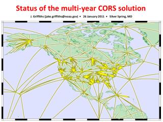 Status of the multi-year CORS solution