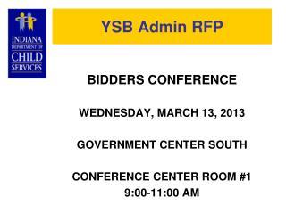 YSB Admin RFP