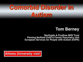 Comorbidity in Autism