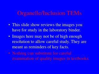 Organelle/Inclusion TEMs