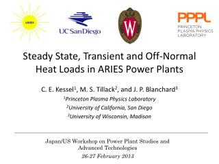 Steady State, Transient and Off-Normal  Heat Loads in ARIES Power Plants