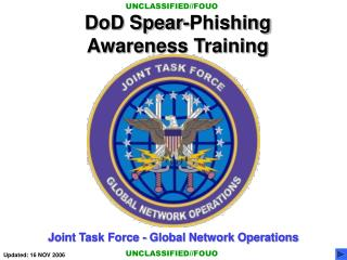 DoD Spear-Phishing Awareness Training