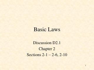 Basic Laws