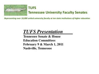 TUFS Tennessee University Faculty Senates