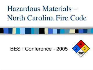 Hazardous Materials – North Carolina Fire Code