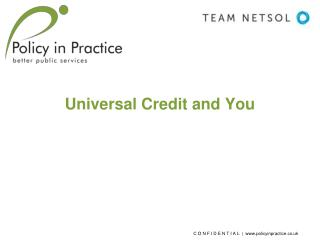 Universal Credit and You