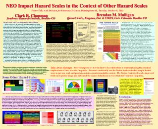NEO Impact Hazard Scales in the Context of Other Hazard Scales