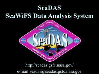 SeaDAS SeaWiFS Data Analysis System