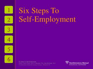 Six Steps To  Self-Employment