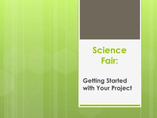 Science Fair: