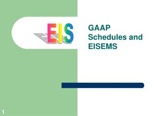 GAAP Schedules and EISEMS