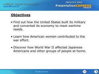 Find out how the United States built its military and converted its economy to meet wartime needs.