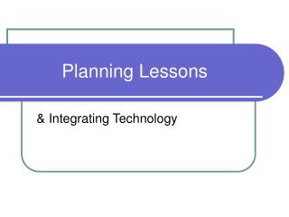 Planning Lessons