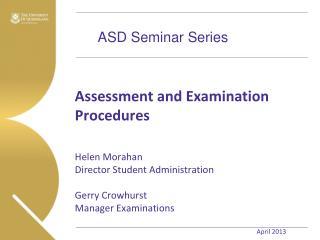 ASD Seminar Series