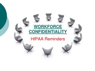 WORKFORCE CONFIDENTIALITY HIPAA Reminders