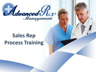 Sales Rep Process Training