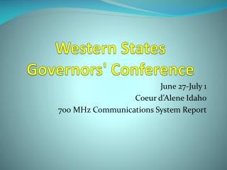 Western States Governors' Conference