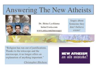 Answering The New Atheists