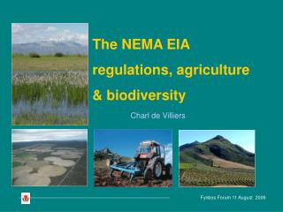 The NEMA EIA regulations, agriculture & biodiversity