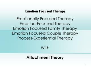 Emotion Focused Therapy