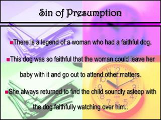 Sin of Presumption