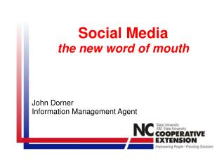 Social Media the new word of mouth