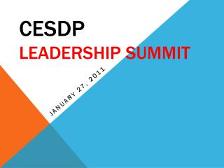 CESDP Leadership Summit