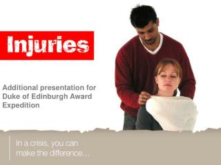 Additional presentation for Duke of Edinburgh Award Expedition