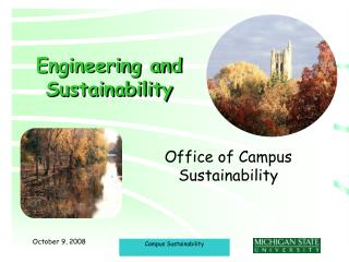 Engineering and Sustainability